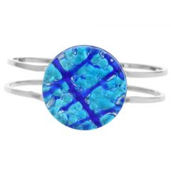 Venetian Reflections Metal Bracelet - Aqua Blue