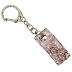 Murano Colors Stick Keychain - Purple Silver