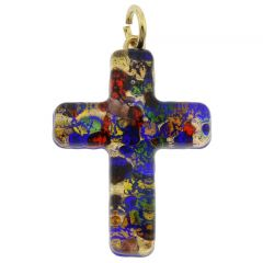 Venetian Reflections Cross Pendant - Golden Meadow
