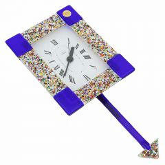 Murano Glass Wall Clock - Klimt Blue