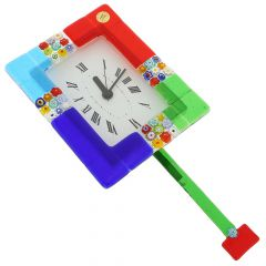 Murano Glass Wall Clock San Marco