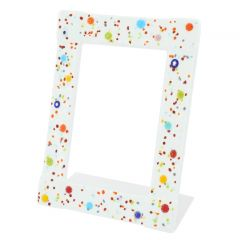 Murano Glass Photo Frame Pantalon 4X6 Inch - White