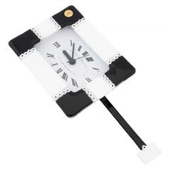 Murano Glass Wall Clock Tiepolo Red
