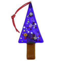 Murano Glass Christmas Tree Ornament - Blue