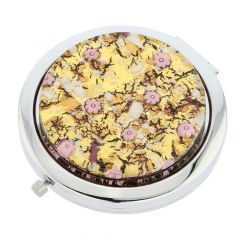 Murano Millefiori Folding Compact Mirror - Purple Gold