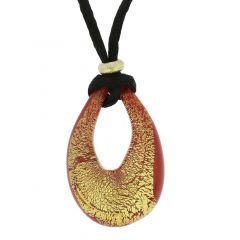 Gemma Murano Necklace - Red