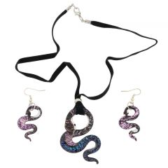 Murano Snake Set - Pendant and Earrings