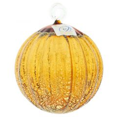 Murano Glass Medium Christmas Ornament - Amber