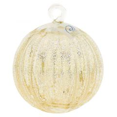 Murano Glass Medium Christmas Ornament - Clear
