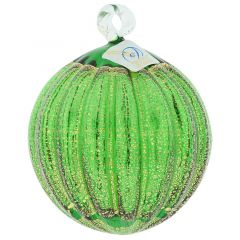 Murano Glass Medium Christmas Ornament - Emerald Green