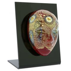 Murano Glass Venetian Carnival Mask - Red