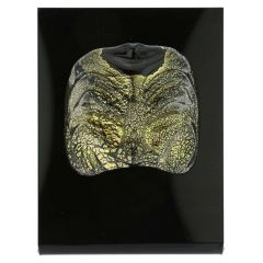 Murano Glass Venetian Carnival Mask - Black Bauta