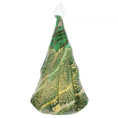 Murano Glass Christmas Tree Hanging Figurine - Green