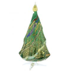 Murano Glass Christmas Tree Standing Sculpture - Green