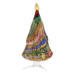 Murano Glass Christmas Tree Standing Sculpture - Red