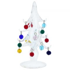 Murano Glass Christmas Tree With Ornaments - Medium