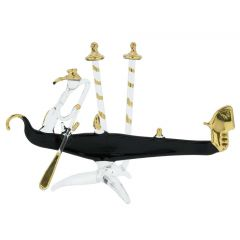 Murano Glass Flat Gondola With Gondolier - Small