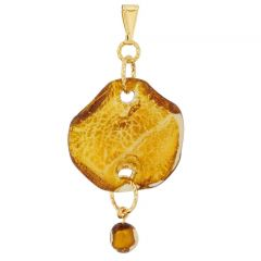 Aria Veneziana Murano Pendant - Gold