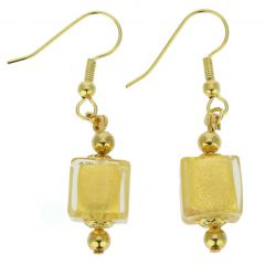 Antico Tesoro Cubes Earrings - Gold