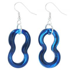 Infinity Earrings - Blue