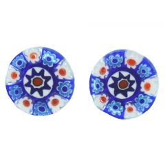 Millefiori Stud Earrings - Round #2