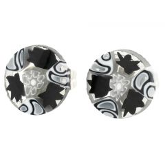 Millefiori Stud Earrings - Round #5