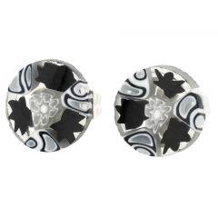 Millefiori Stud Earrings - Round #5