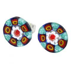 Millefiori Stud Earrings - Round #6