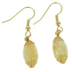 Ca D'Oro Olives Earrings - Ivory Gold