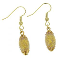 Ca D'Oro Olives Earrings - Pink Gold