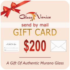 $200 GlassOfVenice Gift Card – Send By Mail