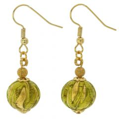 Royal Herb Green Ball Earrings