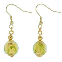 Royal Green Ball Earrings
