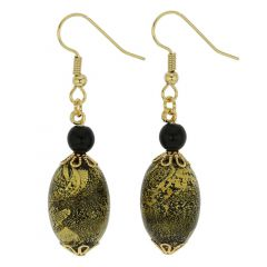 Golden Glow Olives Earrings - Summer Night