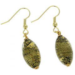 Ca D'Oro Olives Earrings - Black