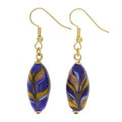 Laguna Murano Festooned Olives Earrings