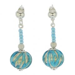 Canaletto Earrings - Silver Tender Sky
