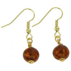 Starlight Balls Earrings - Cognac