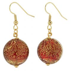 Ca D'Oro Earrings - Ruby Red