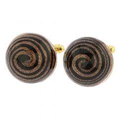 Venetian Sparkles Cufflinks - Black
