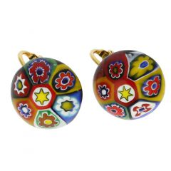 Color Splash Millefiori Clip Earrings - Multicolor
