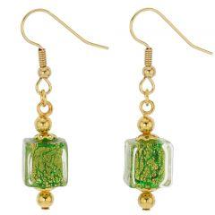 Antico Tesoro cubes earrings -lime green