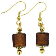 Antico Tesoro Cubes Earrings -Purple