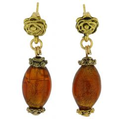 Antico Tesoro Olives Earrings -Dark Topaz