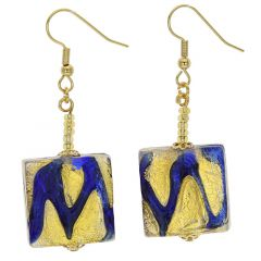 Royal Blue Squares Earrings