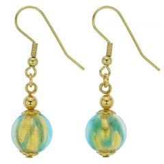 Royal Aqua Ball Earrings