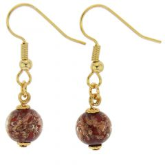 Starlight Balls Earrings - Dark Red