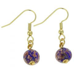 Starlight Balls Earrings - Navy Blue