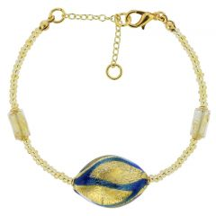 Royal Blue Spiral Bracelet