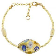 Murano Glass Klimt Spiral Bracelet